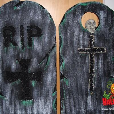 So sehen meine 2 Grabseiten für Halloween aus