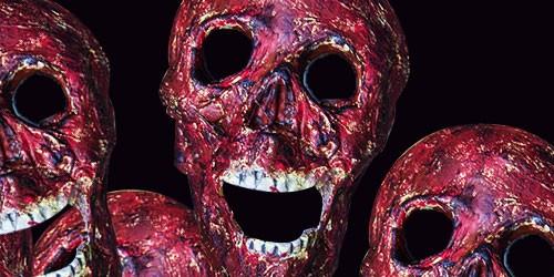 Verbrannte Totenschädel Halloween Tutorial